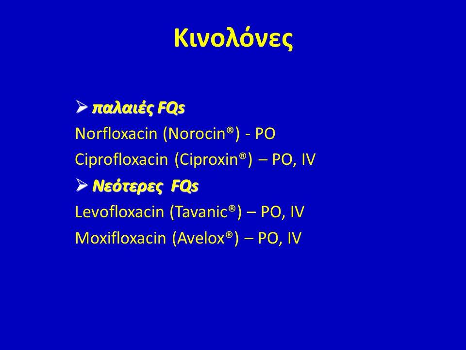 Κινολόνες παλαιές FQs Norfloxacin (Norocin®) - PO