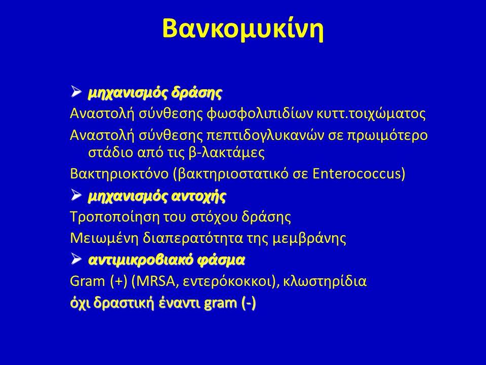Βανκομυκίνη μηχανισμός δράσης