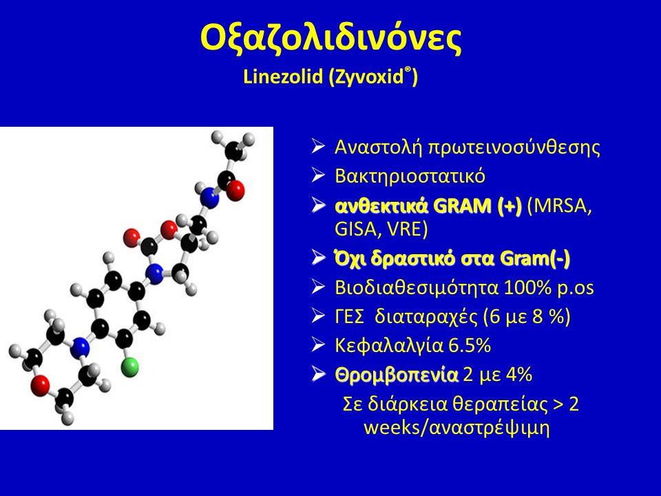Οξαζολιδινόνες Linezolid (Zyvoxid®)