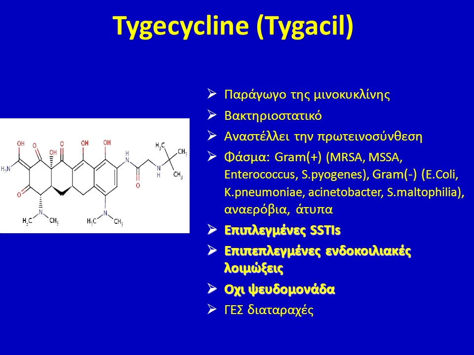 Tygecycline (Tygacil)