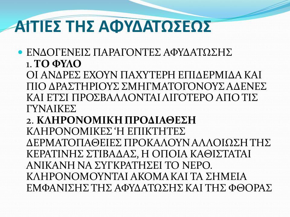ΑΙΤΙΕΣ ΤΗΣ ΑΦΥΔΑΤΩΣΕΩΣ