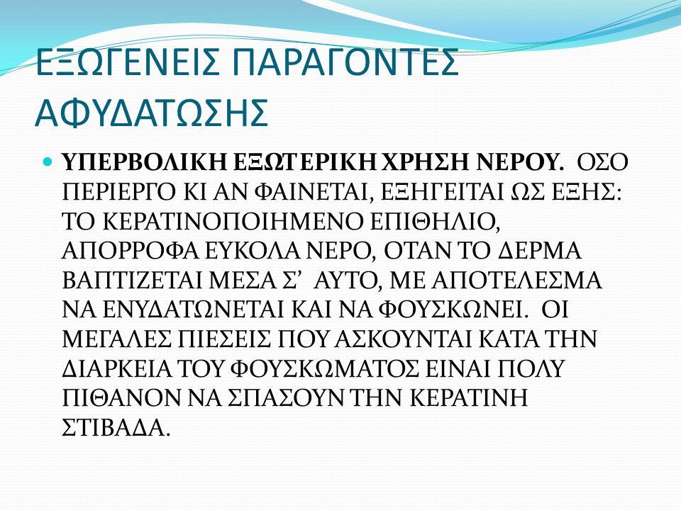 ΕΞΩΓΕΝΕΙΣ ΠΑΡΑΓΟΝΤΕΣ ΑΦΥΔΑΤΩΣΗΣ