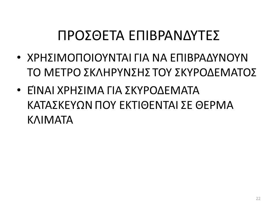 ΠΡΟΣΘΕΤΑ ΕΠΙΒΡΑΝΔΥΤΕΣ