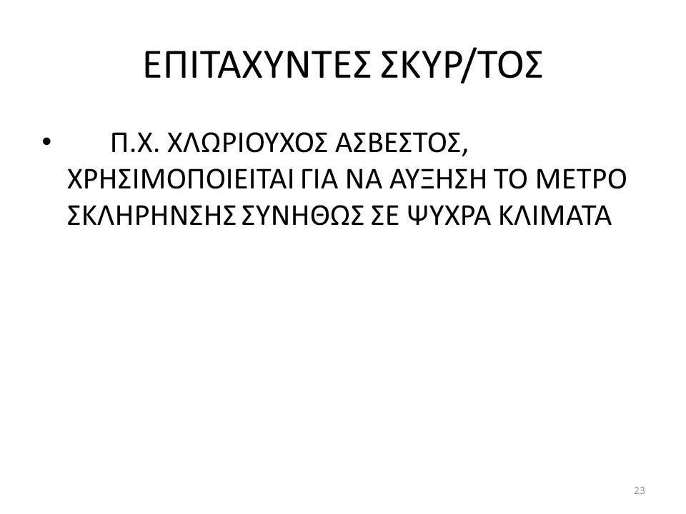 ΕΠΙΤΑΧΥΝΤΕΣ ΣΚΥΡ/ΤΟΣ Π.Χ.
