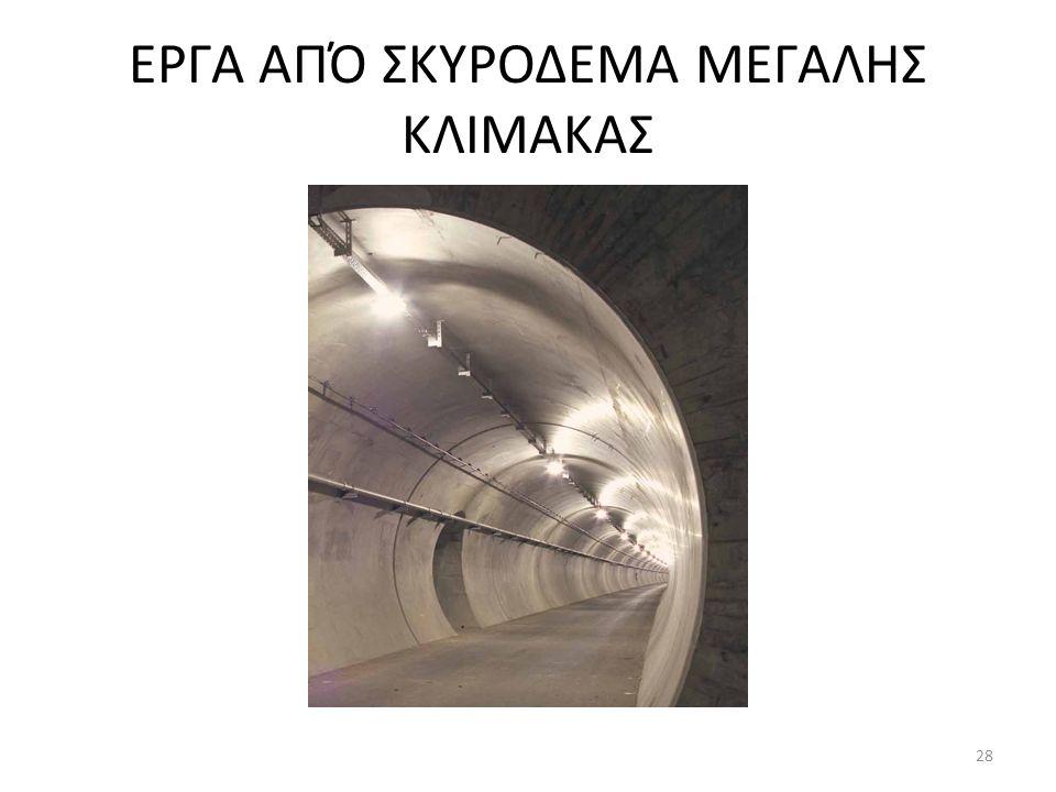 ΕΡΓΑ ΑΠΌ ΣΚΥΡΟΔΕΜΑ ΜΕΓΑΛΗΣ ΚΛΙΜΑΚΑΣ