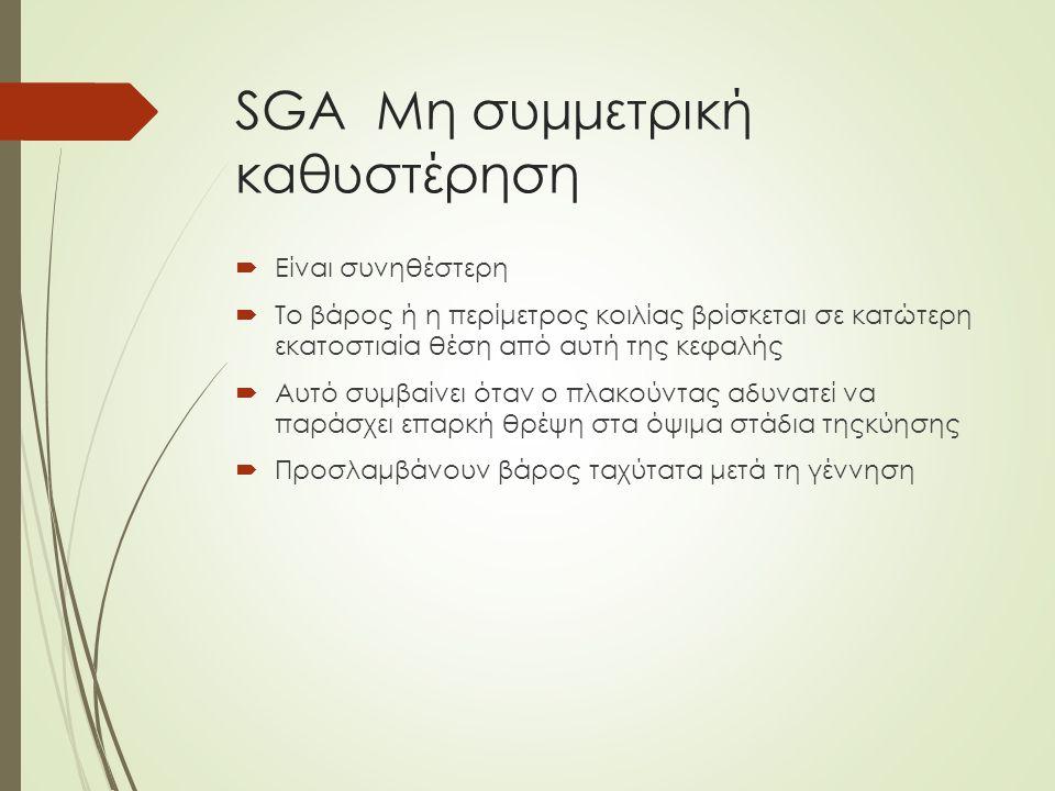 SGA Mη συμμετρική καθυστέρηση