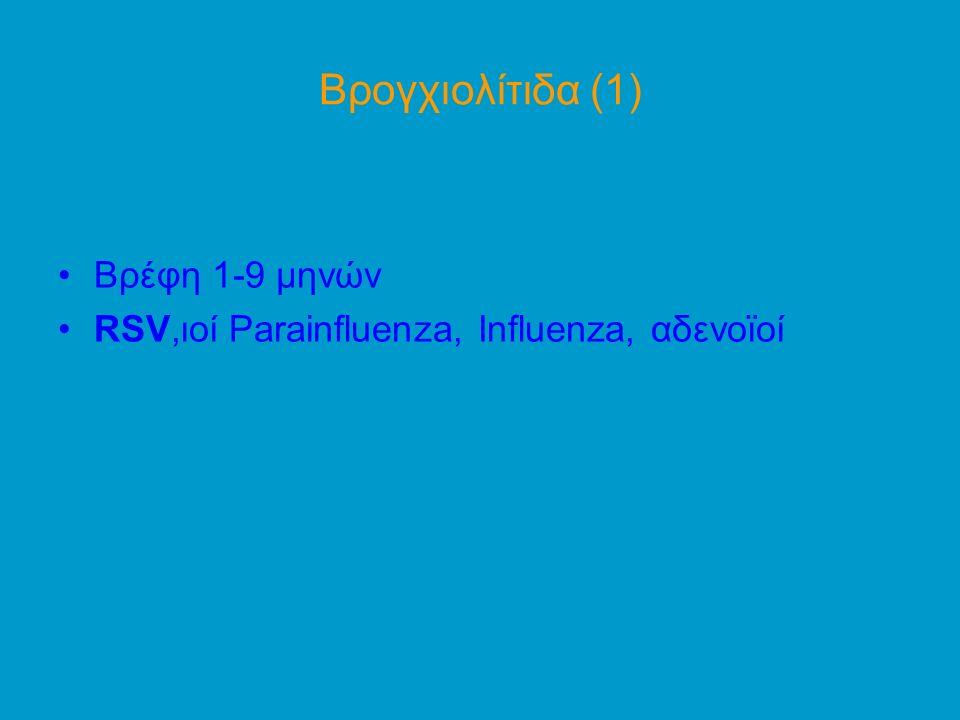 Βρογχιολίτιδα (1) Βρέφη 1-9 μηνών