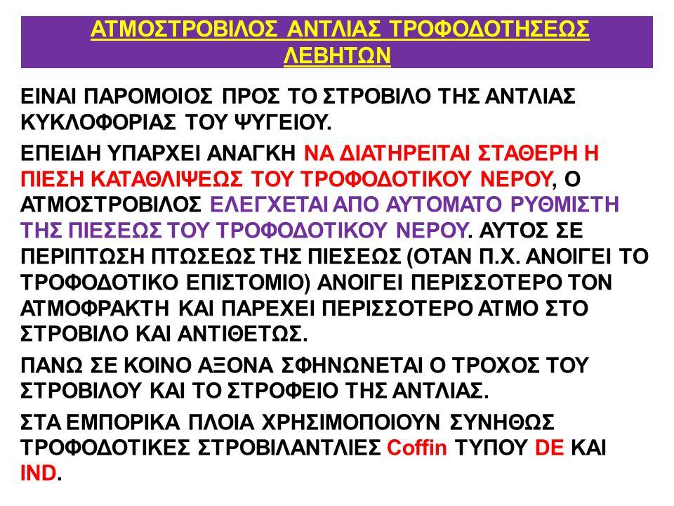 ΑΤΜΟΣΤΡΟΒΙΛΟΣ ΑΝΤΛΙΑΣ ΤΡΟΦΟΔΟΤΗΣΕΩΣ ΛΕΒΗΤΩΝ