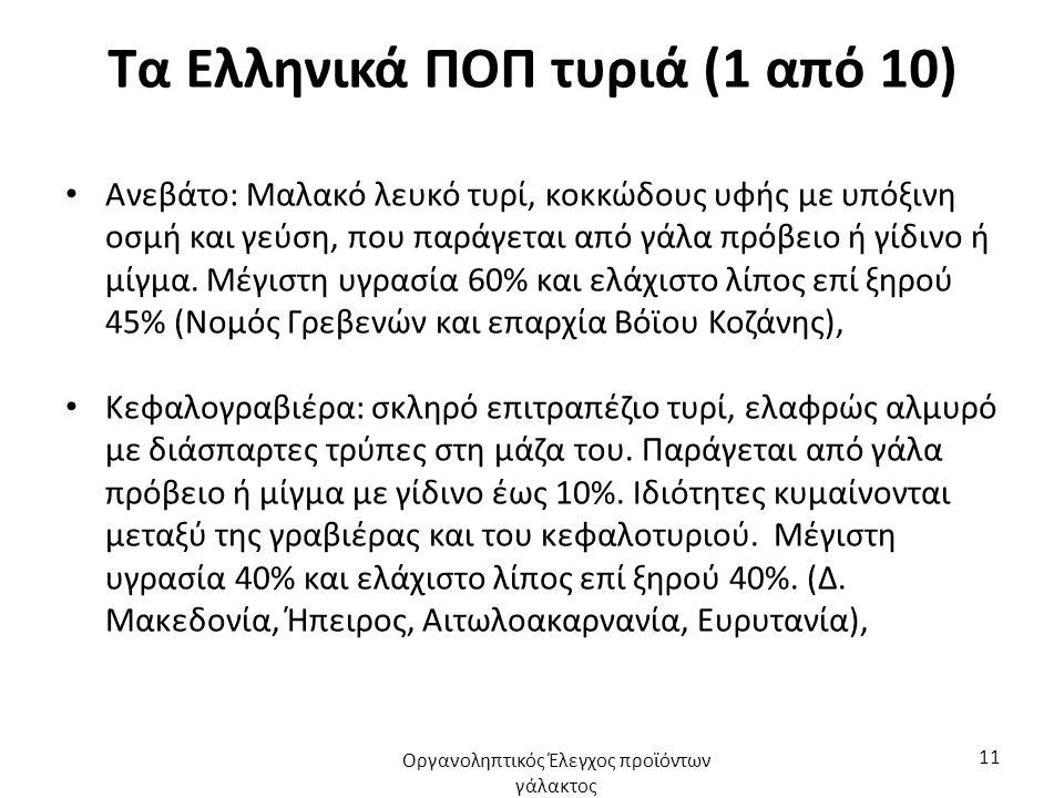Τα Ελληνικά ΠΟΠ τυριά (1 από 10)