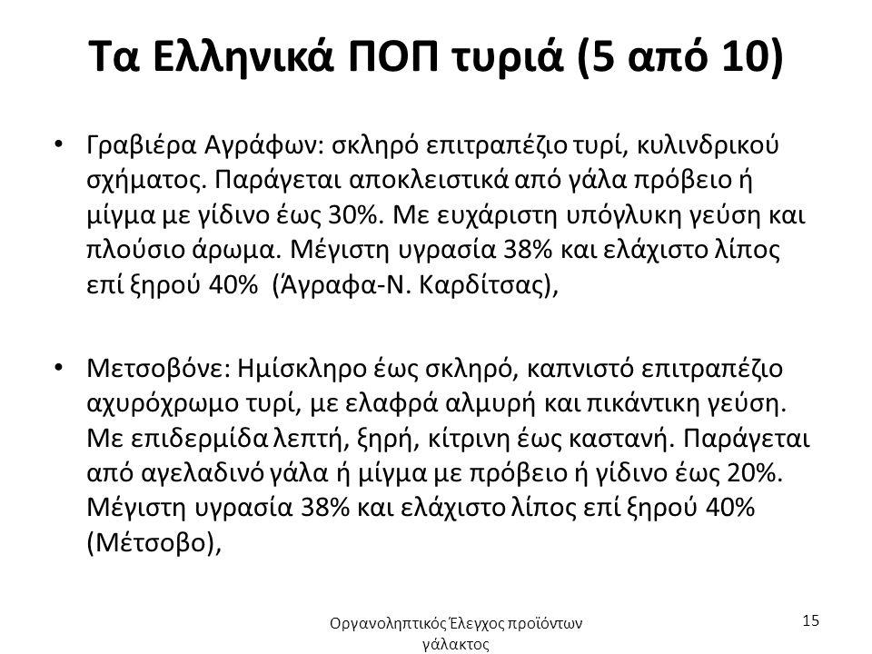 Τα Ελληνικά ΠΟΠ τυριά (5 από 10)