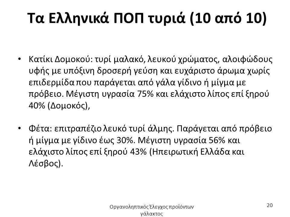 Τα Ελληνικά ΠΟΠ τυριά (10 από 10)