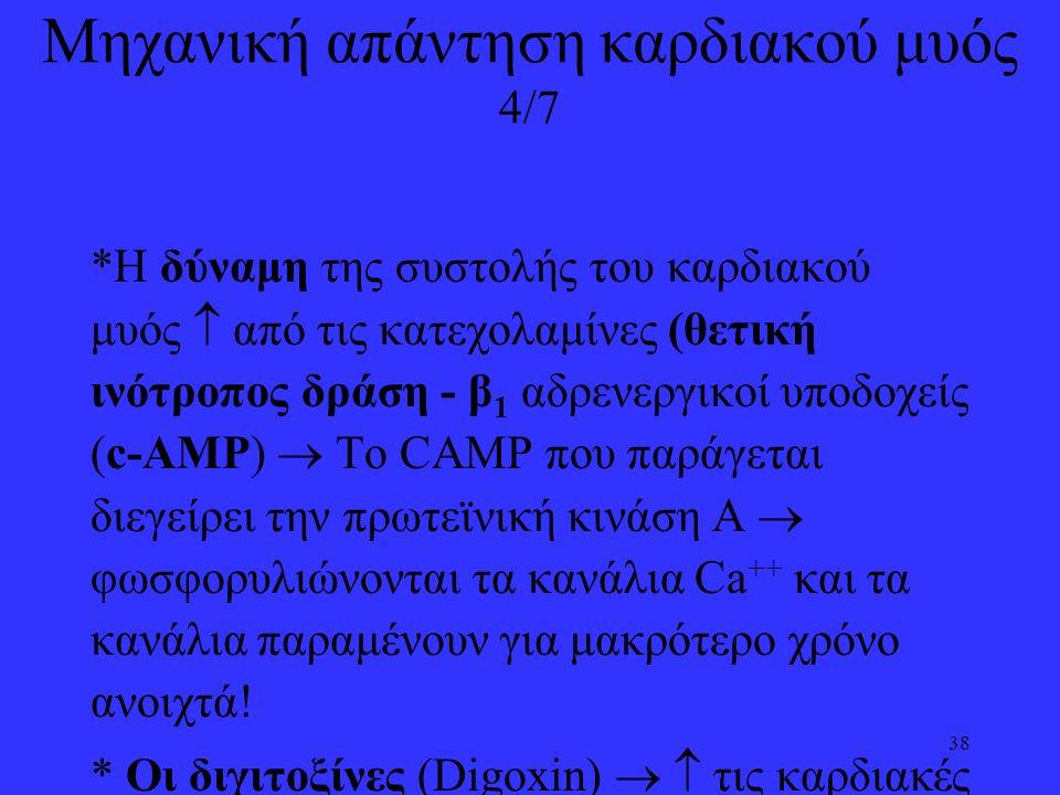 Μηχανική απάντηση καρδιακού μυός 4/7