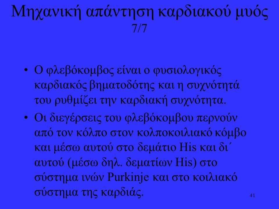 Μηχανική απάντηση καρδιακού μυός 7/7