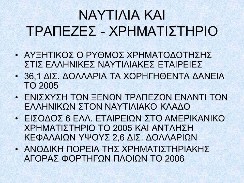 ΝΑΥΤΙΛΙΑ ΚΑΙ ΤΡΑΠΕΖΕΣ - ΧΡΗΜΑΤΙΣΤΗΡΙΟ