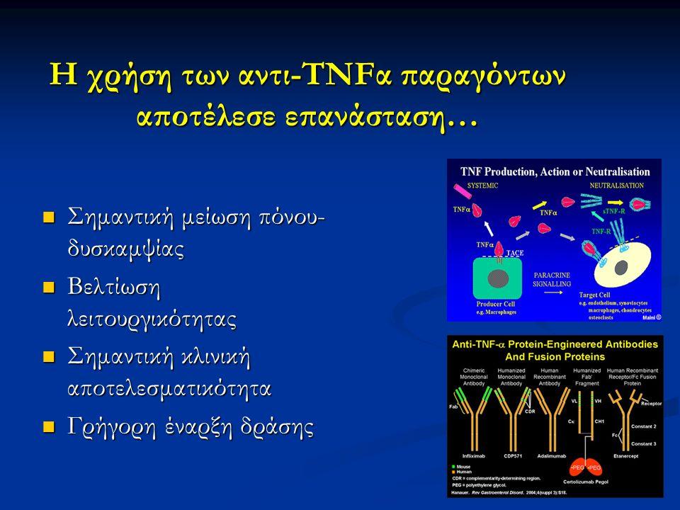 Η χρήση των αντι-TNFα παραγόντων αποτέλεσε επανάσταση…