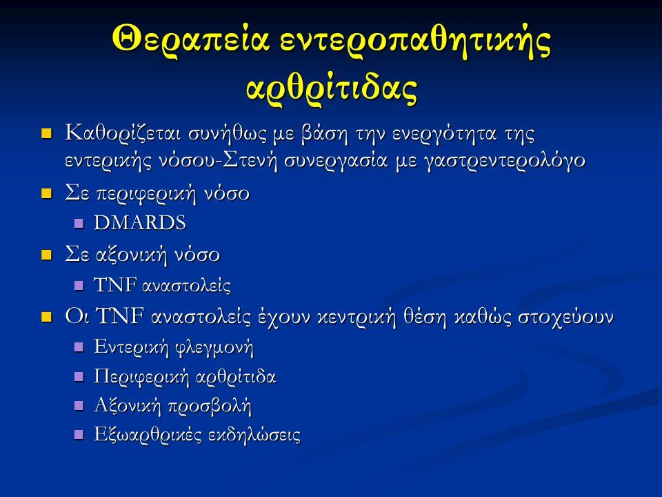 Θεραπεία εντεροπαθητικής αρθρίτιδας