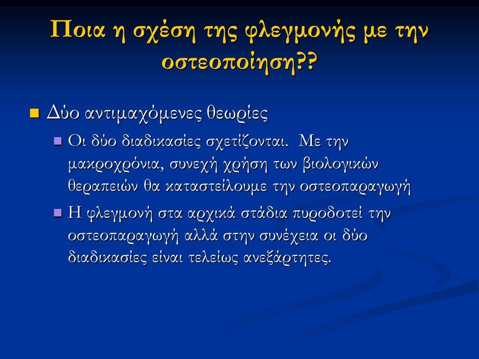 Ποια η σχέση της φλεγμονής με την οστεοποίηση
