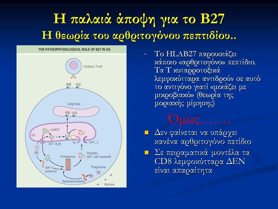 Η παλαιά άποψη για το Β27 Η θεωρία του αρθριτογόνου πεπτιδίου..