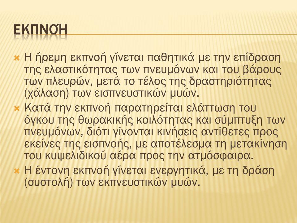 Εισπνευστικοί μύες (διάφραγμα) 1/2