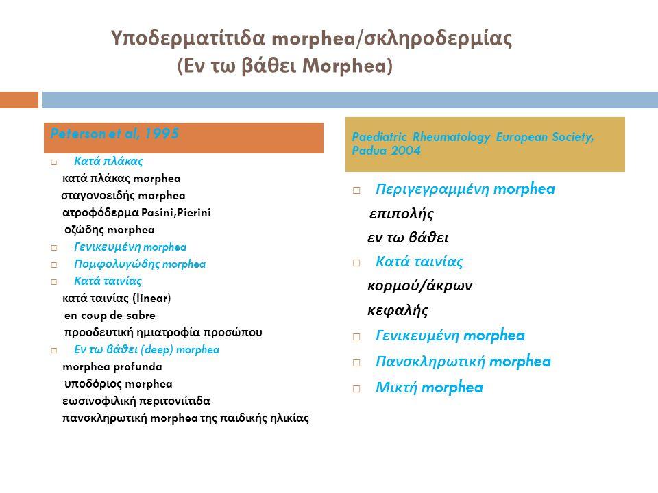 Υποδερματίτιδα morphea/σκληροδερμίας (Εν τω βάθει Morphea)