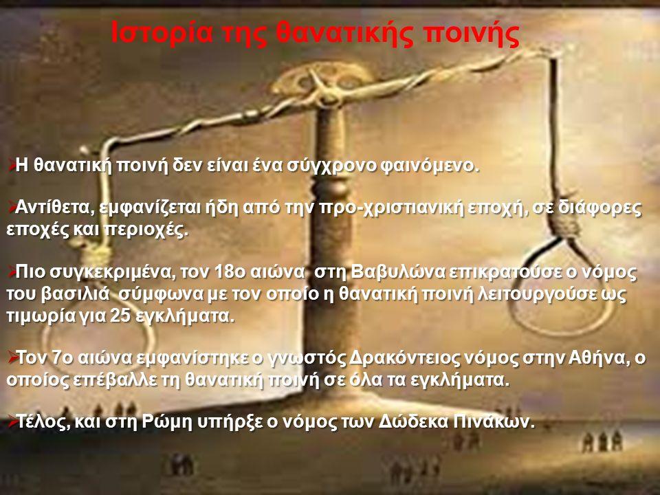 Ιστορία της θανατικής ποινής