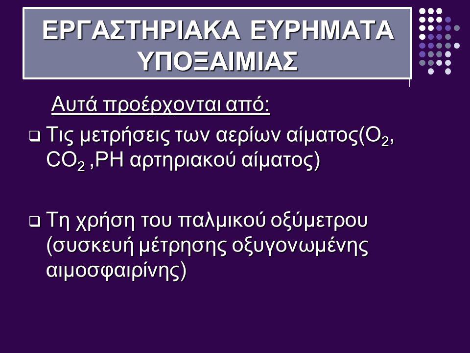 ΕΡΓΑΣΤΗΡΙΑΚΑ ΕΥΡΗΜΑΤΑ ΥΠΟΞΑΙΜΙΑΣ