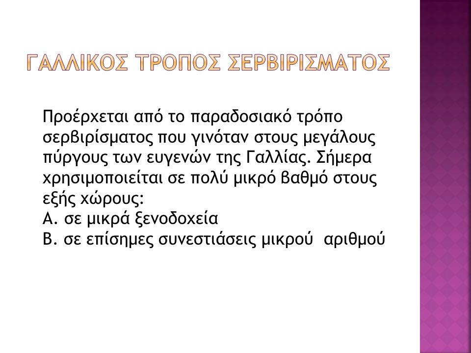 ΓΑΛΛΙΚΟΣ ΤΡΟΠΟΣ ΣΕΡΒΙΡΙΣΜΑΤΟΣ