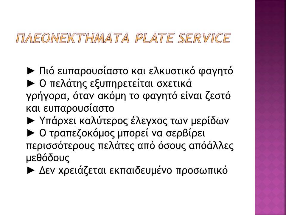 Πλεονεκτήματα Plate Service