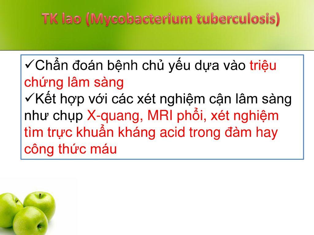 TK lao (Mycobacterium tuberculosis)