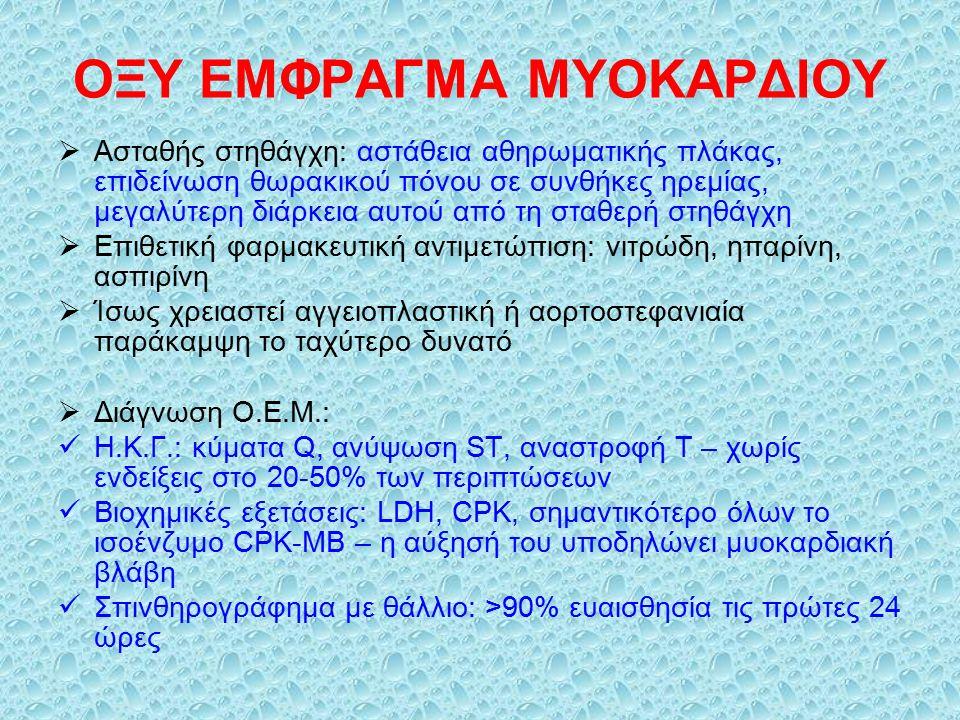 ΟΞΥ ΕΜΦΡΑΓΜΑ ΜΥΟΚΑΡΔΙΟΥ