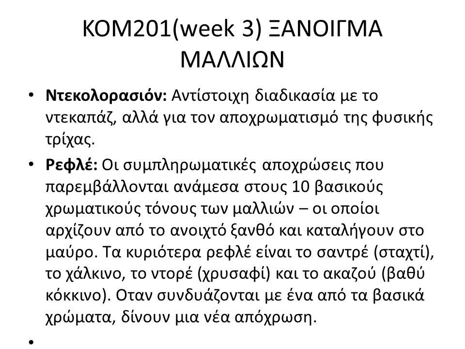 KOM201(week 3) ΞΑΝΟΙΓΜΑ ΜΑΛΛΙΩΝ