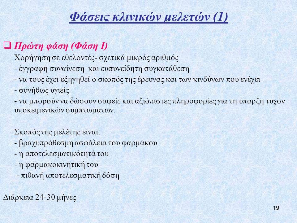 Φάσεις κλινικών μελετών (1)