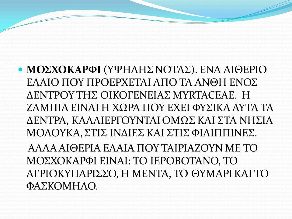 ΜΟΣΧΟΚΑΡΦΙ (ΥΨΗΛΗΣ ΝΟΤΑΣ)