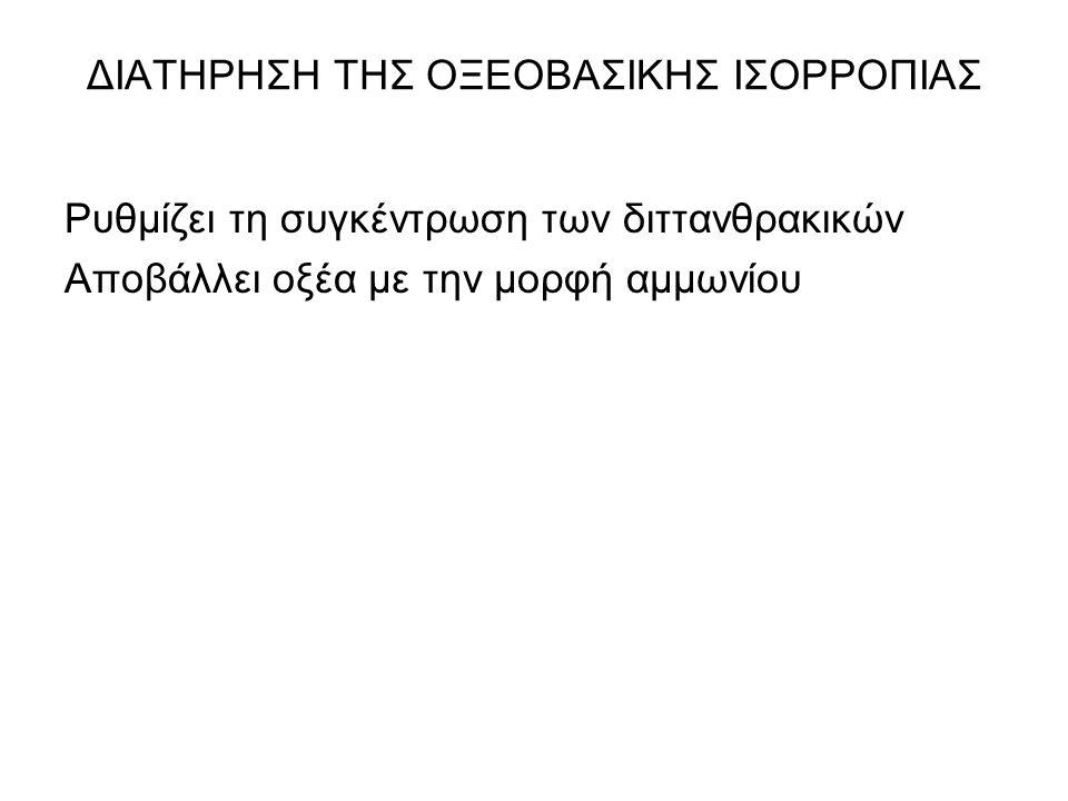 ΔΙΑΤΗΡΗΣΗ ΤΗΣ ΟΞΕΟΒΑΣΙΚΗΣ ΙΣΟΡΡΟΠΙΑΣ