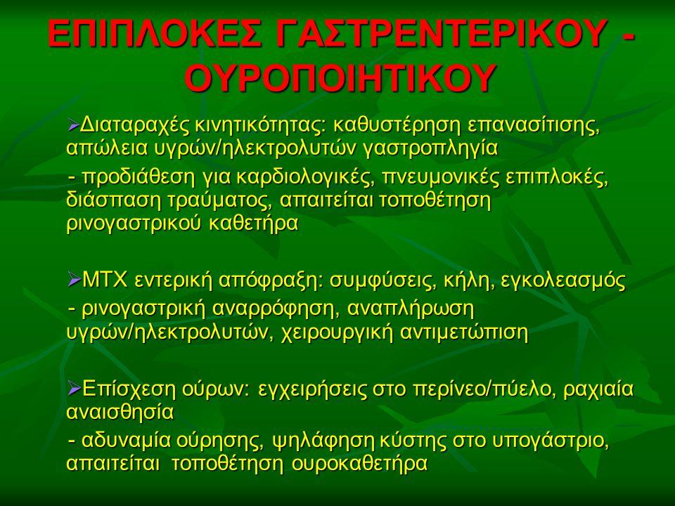 ΕΠΙΠΛΟΚΕΣ ΓΑΣΤΡΕΝΤΕΡΙΚΟΥ - ΟΥΡΟΠΟΙΗΤΙΚΟΥ