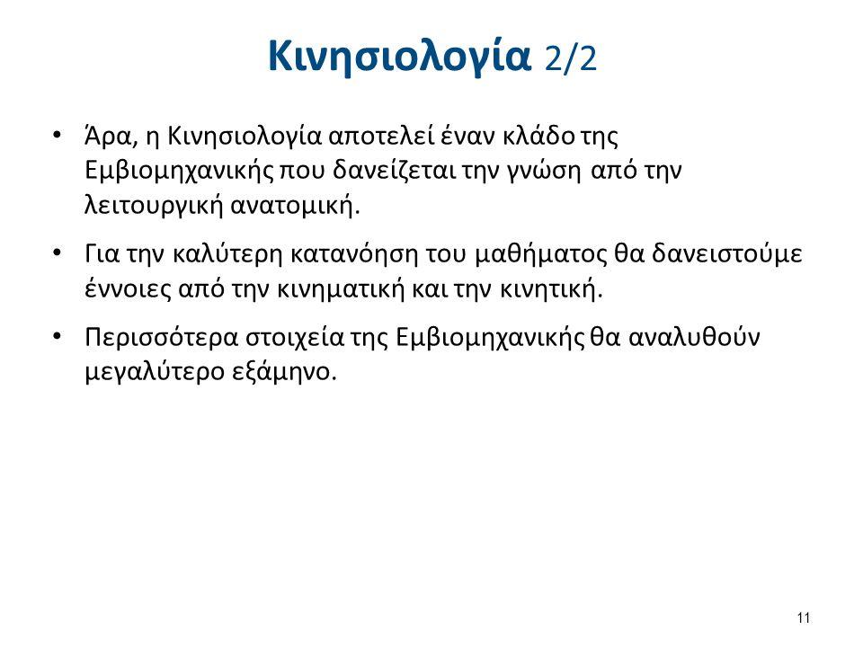 Ανατομική – Λειτουργική Ανατομική 1/2