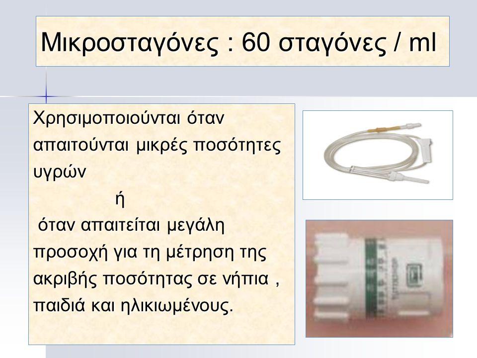 Μικροσταγόνες : 60 σταγόνες / ml