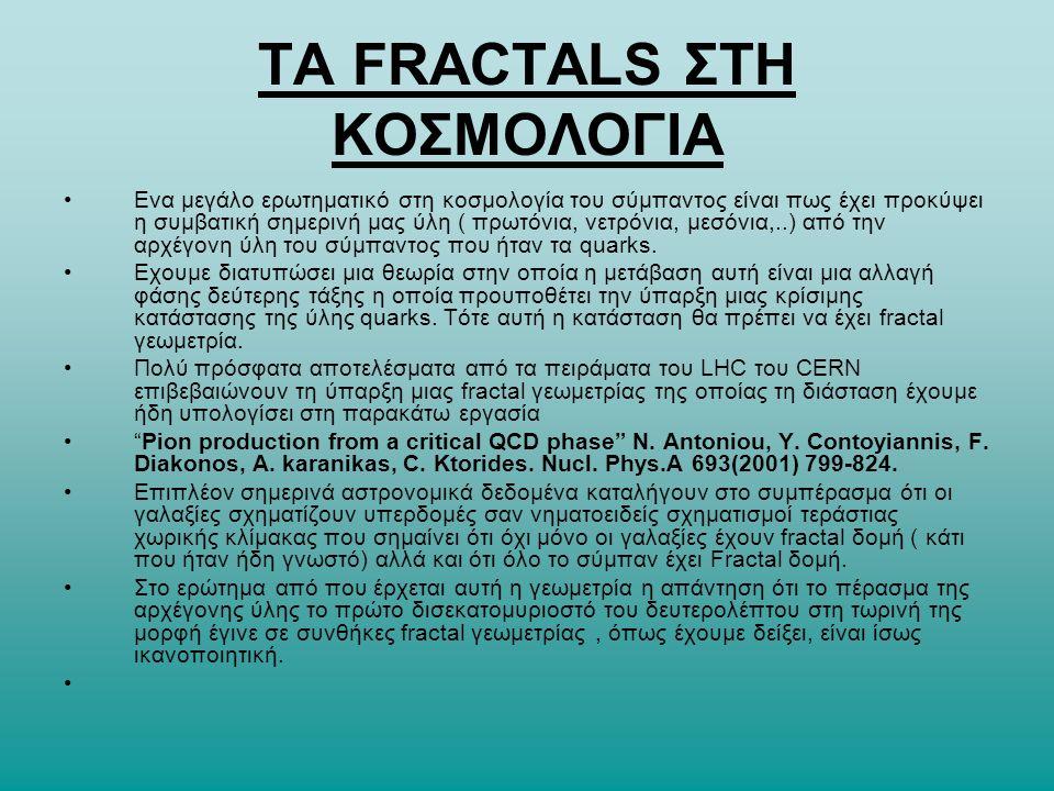 TA FRACTALS ΣΤΗ ΚΟΣΜΟΛΟΓΙΑ