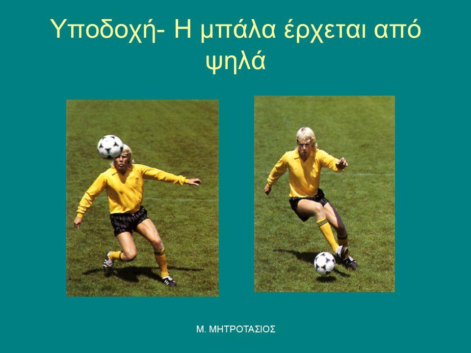 Υποδοχή- Η μπάλα έρχεται από ψηλά