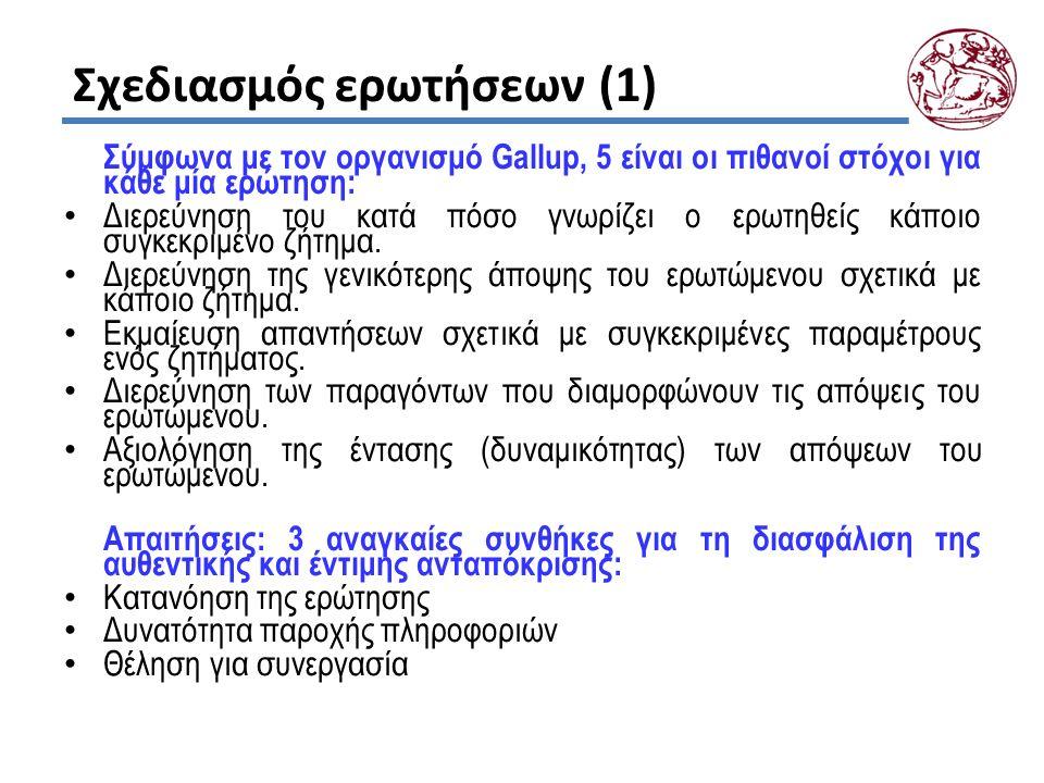 Σχεδιασμός ερωτήσεων (1)