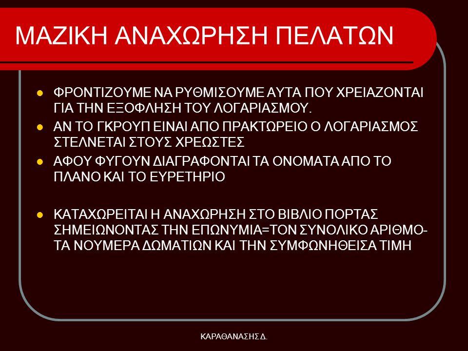 ΜΑΖΙΚΗ ΑΝΑΧΩΡΗΣΗ ΠΕΛΑΤΩΝ