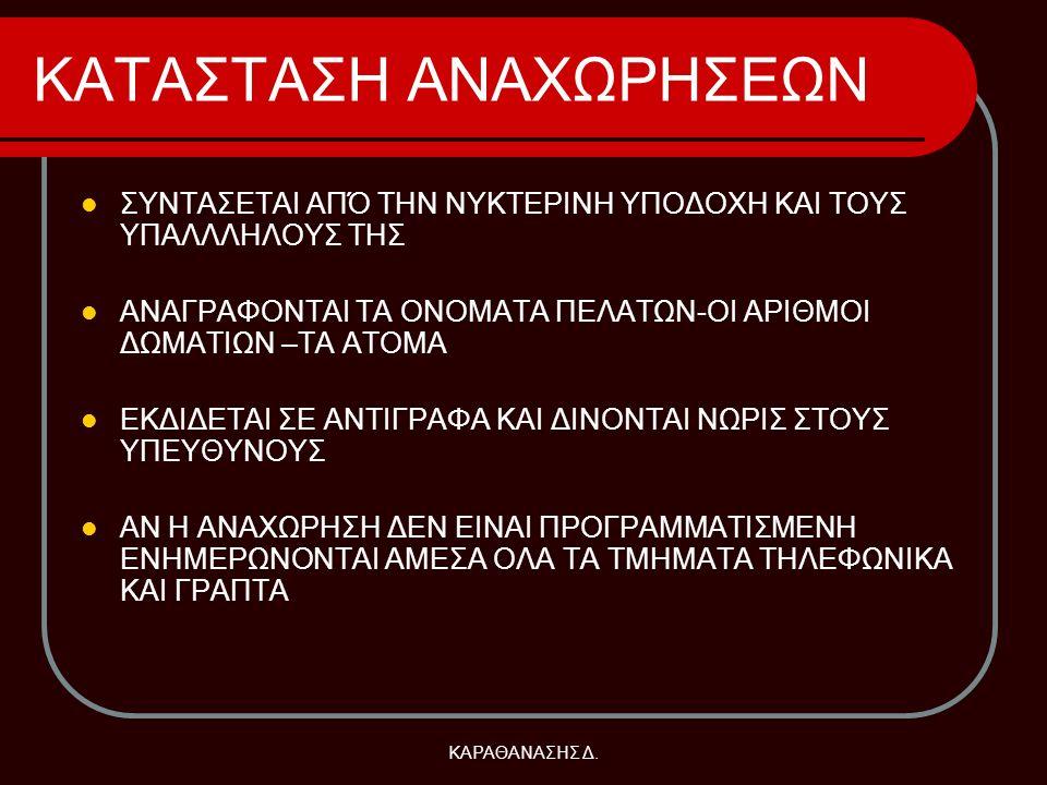 ΚΑΤΑΣΤΑΣΗ ΑΝΑΧΩΡΗΣΕΩΝ