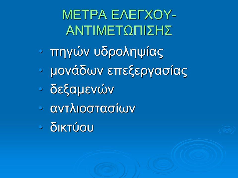 ΜΕΤΡΑ ΕΛΕΓΧΟΥ-ΑΝΤΙΜΕΤΩΠΙΣΗΣ