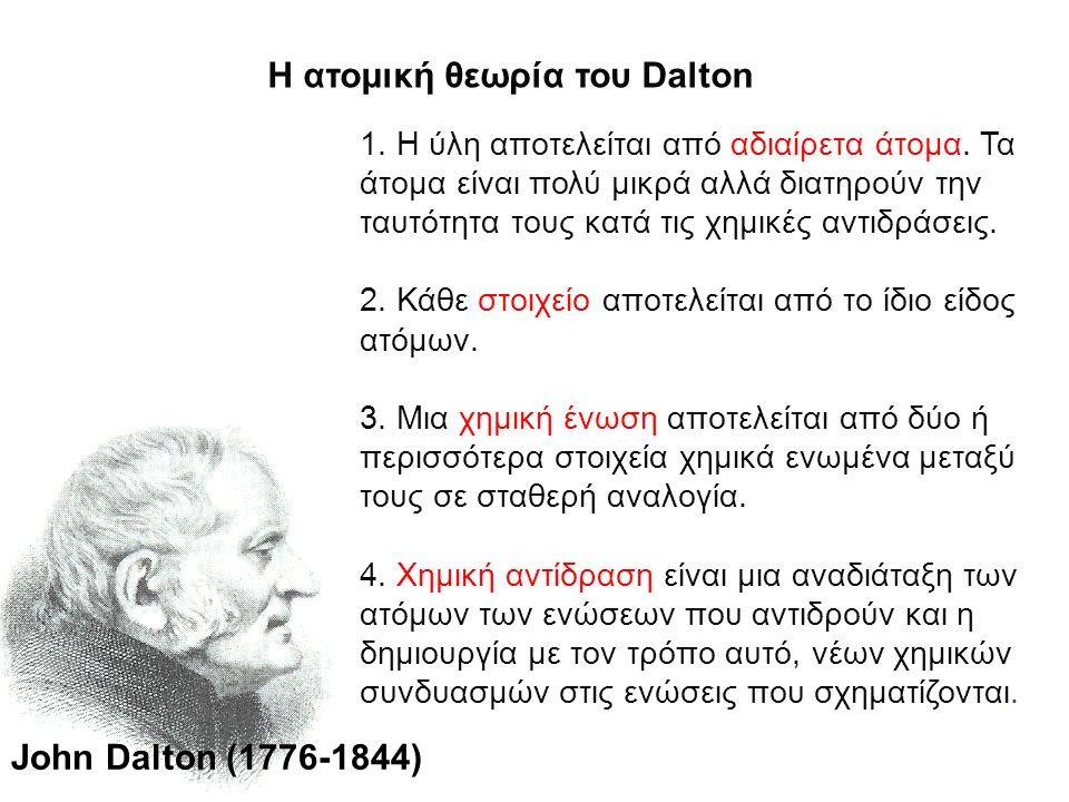 Η ατομική θεωρία του Dalton
