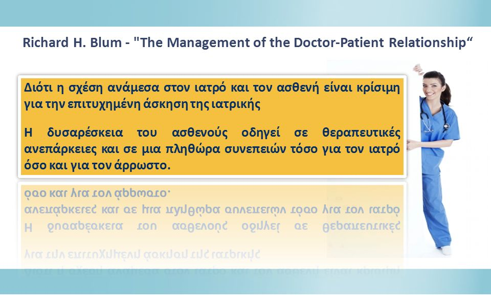 Richard Η. Βlum - The Management of the Doctor-Patient Relationship