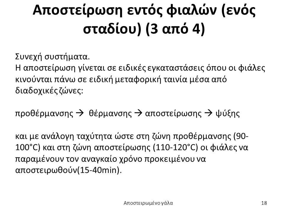 Αποστείρωση εντός φιαλών (ενός σταδίου) (3 από 4)