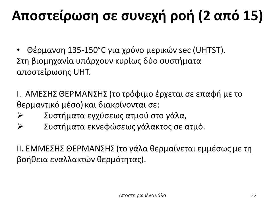 Αποστείρωση σε συνεχή ροή (2 από 15)
