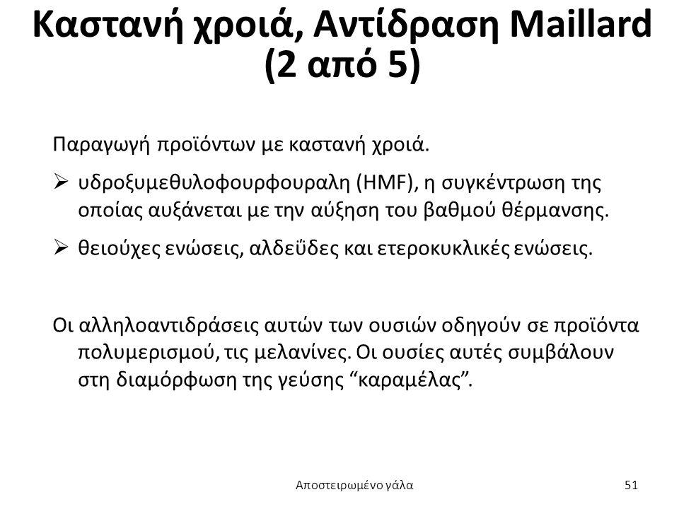 Καστανή χροιά, Αντίδραση Maillard (2 από 5)