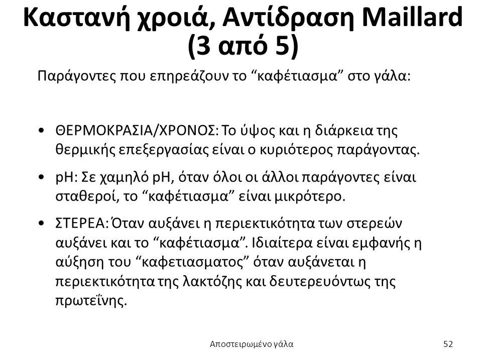 Καστανή χροιά, Αντίδραση Maillard (3 από 5)