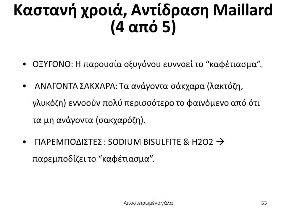 Καστανή χροιά, Αντίδραση Maillard (4 από 5)